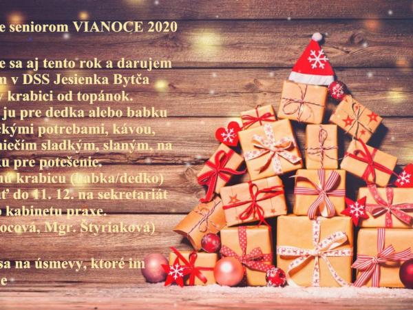 Darujme seniorom Vianoce 2020